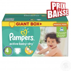 Pack jumeaux 611 Couches Pampers Active Baby Dry taille 4