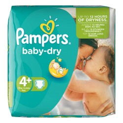 Pack 41 Couches de Pampers Baby Dry de taille 4+