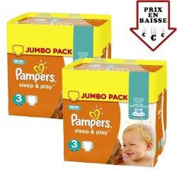 Maxi mega pack 492 Couches Pampers Sleep & Play
