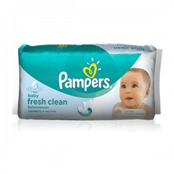 Pack d'une quantité de 64 Lingettes Bébés Pampers Fresh Clean