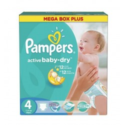 Pack jumeaux 735 Couches Pampers Active Baby Dry taille 4 sur Promo Couches
