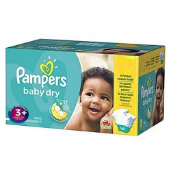 Pack 68 Couches Pampers Baby Dry taille 3+