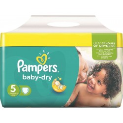 Maxi Pack 180 Couches de Pampers Baby Dry taille 5