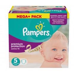 Maxi Pack d'une quantité de 322 Couches de la marque Pampers Active Fit taille 5 sur Promo Couches