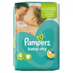 Pack 62 Couches Pampers de la gamme Baby Dry de taille 4 sur Promo Couches