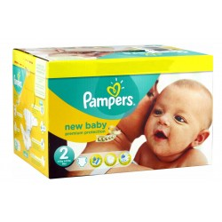 Mega Pack de 80 Couches Pampers New Baby Dry taille 2 sur Promo Couches