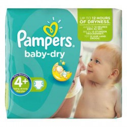 Pack 56 Couches Pampers Baby Dry taille 4+