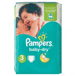 Pack 70 Couches Pampers Baby Dry de taille 3 sur Promo Couches