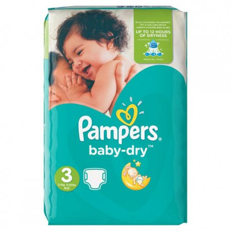 Couches pampers baby dry taille 3 petit prix 70 couches sur promo couches - Couches pampers en promo ...