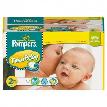 Pack de 80 Couches Pampers New Baby taille 2 sur Promo Couches
