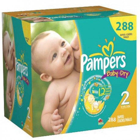 Pack jumeaux 792 Couches Pampers Baby Dry taille 2 sur Promo Couches