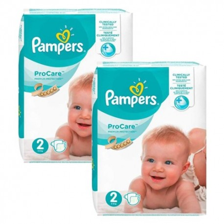 Pack jumeaux 576 Couches Pampers ProCare Premium protection taille 2 sur Promo Couches