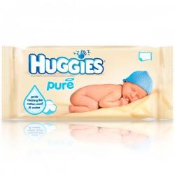 Pack d'une quantité de 56 Lingettes Bébés Huggies Pure