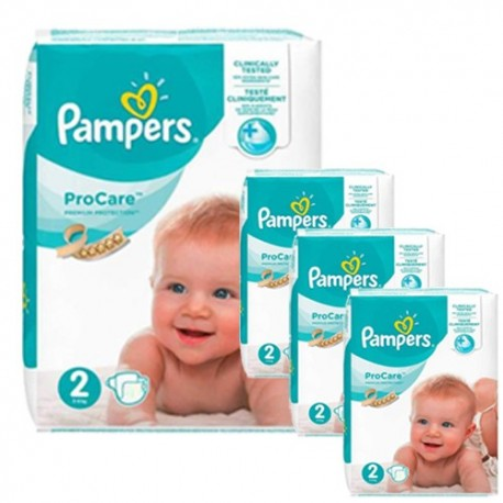 Pack jumeaux 612 Couches Pampers ProCare Premium protection taille 2 sur Promo Couches
