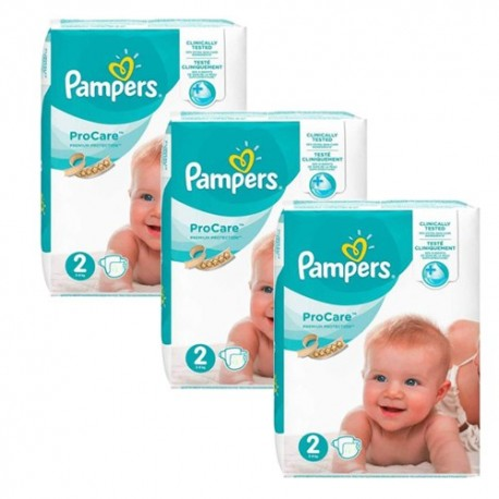Pack jumeaux 684 Couches Pampers ProCare Premium protection taille 2 sur Promo Couches