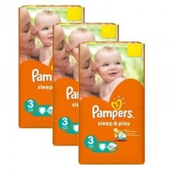 Pack jumeaux 738 Couches Pampers Sleep & Play taille 3