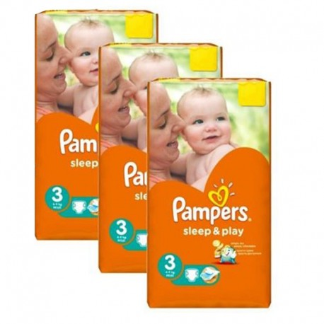 Pack jumeaux 738 Couches Pampers Sleep & Play taille 3 sur Promo Couches