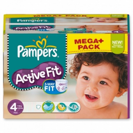 Pack 64 Couches Pampers Active Fit Pants taille 4 sur Promo Couches