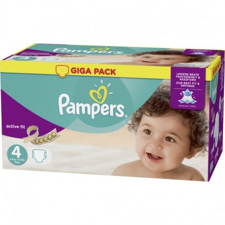 Mega pack 160 Couches Pampers Active Fit Pants taille 4 sur Promo Couches