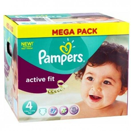 Giga pack 256 Couches Pampers Active Fit Pants taille 4 sur Promo Couches
