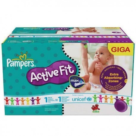 Maxi giga pack 352 Couches Pampers Active Fit Pants taille 4 sur Promo Couches