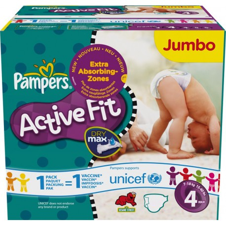 Maxi mega pack 416 Couches Pampers Active Fit Pants taille 4 sur Promo Couches