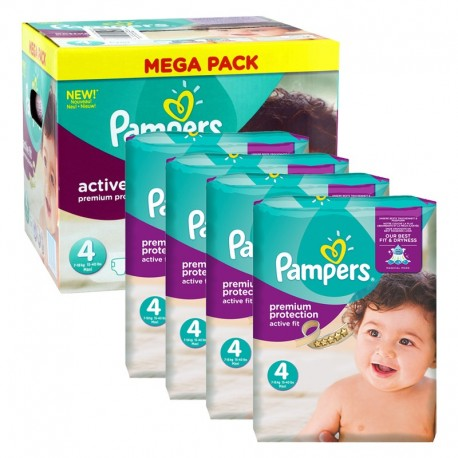 Maxi mega pack 448 Couches Pampers Active Fit Pants taille 4 sur Promo Couches
