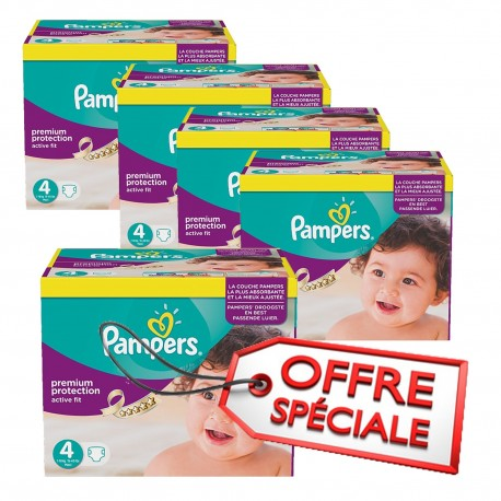 Pack jumeaux 512 Couches Pampers Active Fit Pants taille 4 sur Promo Couches