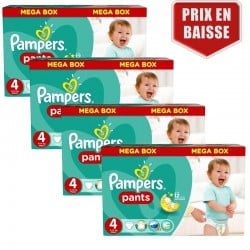 Maxi mega pack 414 Couches Pampers Baby Dry Pants taille 4