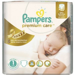 Pack 22 Couches Pampers Premium Care de taille 1