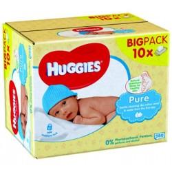 Maxi Pack de 560 Lingettes Bébés de la marque Huggies Pure