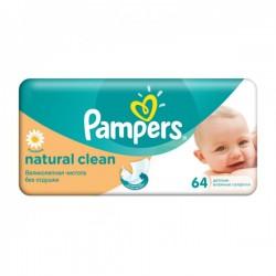 Pack de 64 Lingettes Bébés Pampers de la gamme Natural Clean sur Promo Couches