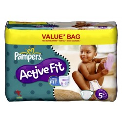 Maxi giga pack de 174 Couches Pampers Active Fit taille 5+ sur Promo Couches