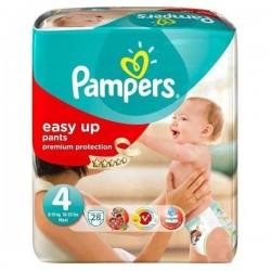 Pack d'une quantité de 28 Couches Pampers Easy Up de taille 4 sur Promo Couches