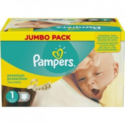 Maxi giga pack 324 Couches de Pampers New Baby Dry taille 1