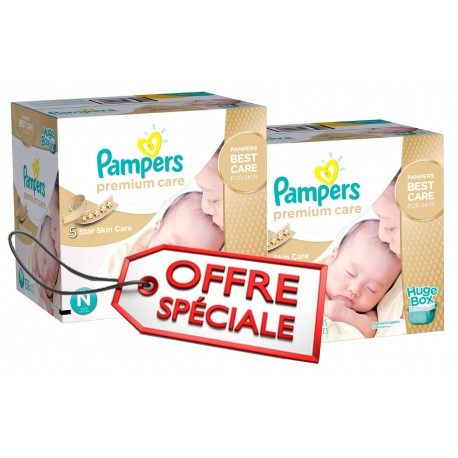 Maxi giga pack de 506 Couches Pampers Premium Care de taille 1 sur Promo Couches