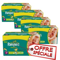 Maxi giga pack de 680 Couches Pampers de la gamme Baby Dry taille 3+
