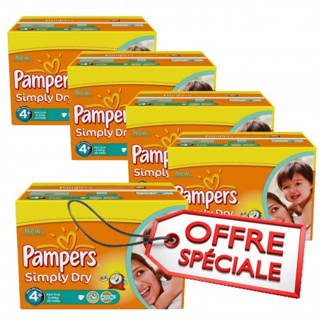 Couches Pampers Simply Dry Taille 4 Pas Cher 880 Couches Sur