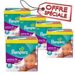 Maxi Giga Pack Jumeaux 870 Couches de Pampers Active Fit taille 5+ sur Promo Couches