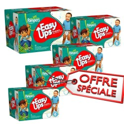 Maxi Giga Pack Jumeaux de 570 Couches de Pampers Easy Up taille 6 sur Promo Couches