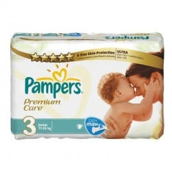 Pack de 56 Couches Pampers Premium Care Pants taille 3