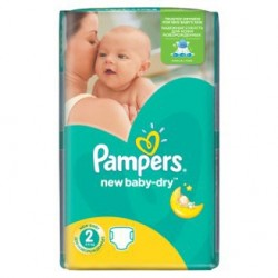 Paquet 68 Couches Pampers New Baby Dry taille 2