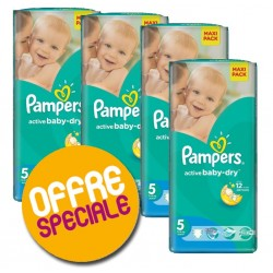 Pack économique 252 Couches Pampers Active Baby Dry taille 5 sur Promo Couches