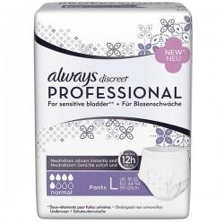 Pack 12 Sous-vêtement Pants Always Discreet Professional PLUS sur Promo Couches