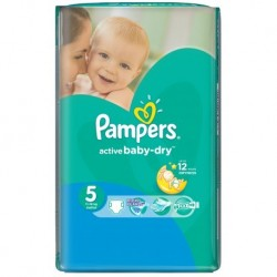 Pack 58 Couches Pampers Active Baby Dry taille 5