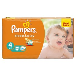 Pack de 50 Couches Pampers Sleep & Play taille 4