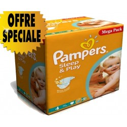 Gros pack de 250 Couches Pampers Sleep & Play taille 4