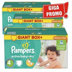 Maxi giga pack 696 Couches Pampers Active Baby Dry de taille 4 sur Promo Couches