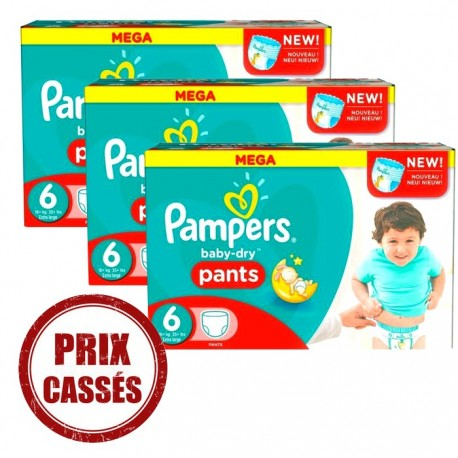 Pack économique 105 Couches Pampers Baby Dry Pants 6 sur Promo Couches