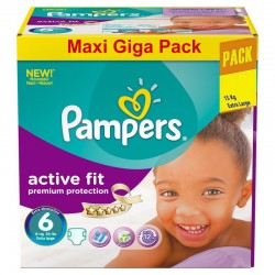 Gros pack 248 Couches Pampers Active Fit taille 6